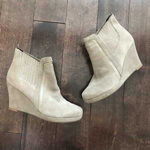 Dolce Vita suede wedge bootie
